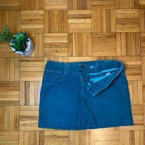 American Eagle Blue Corduroy Mini Skirt